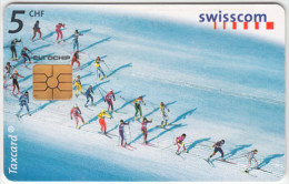 SWITZERLAND A-875 Chip Swisscom - Sport, Cross-country skiing - used