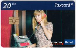 SWITZERLAND A-876 Chip Swisscom - Communication, Phone booth - used