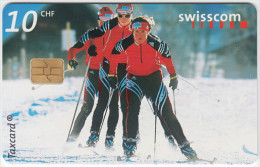 SWITZERLAND A-884 Chip Swisscom - Sport, Cross-country skiing - used