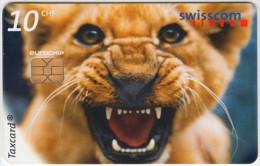 SWITZERLAND A-888 Chip Swisscom - Animal, Cat, Lion - used