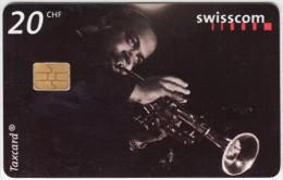 SWITZERLAND A-890 Chip Swisscom - Event, Jazz festival, Musician - used