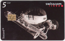 SWITZERLAND A-892 Chip Swisscom - Event, Jazz festival, Musician - used