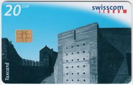 SWITZERLAND A-893 Chip Swisscom - Architecture, Modern art - used