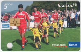 SWITZERLAND A-896 Chip Swisscom - Sport, Soccer - used