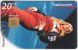SWITZERLAND A-897 Chip Swisscom - Sport, Motor race, Woman of speed - used