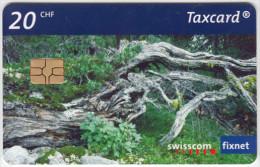 SWITZERLAND A-906 Chip Swisscom - Plant, Gnarled tree - used