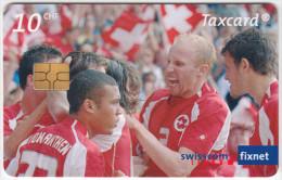 SWITZERLAND A-909 Chip Swisscom - Sport, Soccer - used