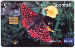 SWITZERLAND A-918 Chip Swisscom - Animal, Butterfly - used