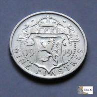 Chipre - 9 Piastras - 1919 - Chipre