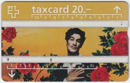 SWITZERLAND A-959 Hologram PTT - Occasion, Valentine's Day, Plant, Flower, Rose - 529B - used