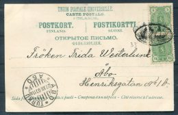 1900 Aland Finland Bomersund Ruins Postcard Mariehamn Ship Paquebot - Abo Turku - Aland