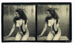 NUS - NUDED - PHOTO STEREOSCOPIQUE -  Beauté Féminine  D'Autrefois  Début  Années 1900- P 325 - Photos Stéréoscopiques