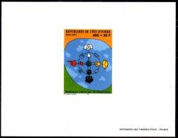 """Ivory Coast 2001 Côte D´Ivoire PROOF EPREUVE DE LUXE Joint Issue """"Dialogue Among The Civilizations"""" Civilisations Dialog - Gemeinschaftsausgaben"""