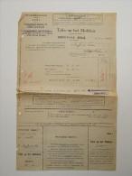 Taks Op Het Mobilair 1945 Stadsbestuur Gent Oostakker - Belgique