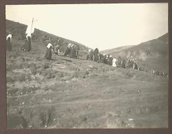 Champorcher, Valle D´Aosta 5.8.1911, Processione Presso Dondena, Fotografia Autentica Originale D´epoca Cm. 7,5 X 10. - Luoghi
