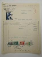 Facture Invoice Bloempotten Fabriek De Schelde Merelbeke Gent Gand 1948 - 1900 – 1949