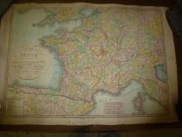 1820 Carte De FRANCE Couleurs (divisée En 86 Dépts :Péfectures,S-Préfectures,Archevêchés,Evêchés,CHEF-LIEUX ..etc - Geographical Maps