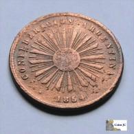 Argentina - 2 Centavos - Confederacion - 1854 - Argentine