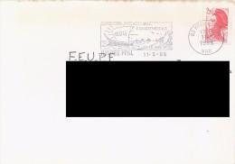 FRANCE. POSTMARK HYERES. BOAT. 1988. FLAMME - Marcofilia (sobres)