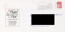 FRANCE. POSTMARK. ROCAMADOUR. 2000. ADVERTISING HOTEL DU ROC. FLAMME - Marcofilia (sobres)