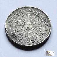 Perú - 20 Centavos - Gobierno Provisional - 1879 - Peru