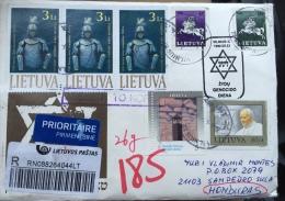 Cover Lithuania To Honduras 2015 ( Missent To Korea) - Litauen