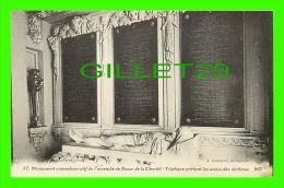 PARIS (75) MONUMENT COMMÉMORATIF INCENDIE DU BAZAR CHARITÉ - TRIPTIQUE PORTANT LES NOMS DES VICTIMES- LEVY ET NEURDEIN - - Other Monuments