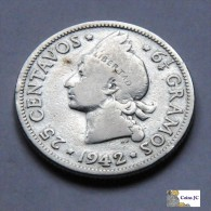 Dominican Republic - 25 Centavos - 1942 - Dominikanische Rep.
