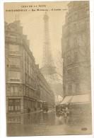 S2854 - Crue De La Seine - Paris-Grenelle - Rue De Monttessuy - 28 Janvier 1910 - Inondations