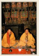 BHUTAN  XIALU:  MONACI NEL MONASTERO   (NUOVA CON DESCRIZIONE DEL SITO SUL RETRO) - Bhoutan