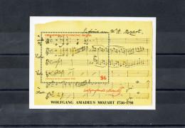 GRENADINES De SAINT-VINCENT  / BEQUIA  : MOZART Wolfrang Amadeus : 200 Ans De Sa Mort - - Musique