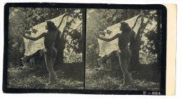NUS FEMININS - NUDED - PHOTO STEREOSCOPIQUE  - Beauté Féminine D'Autrefois - Début Années 1900 -  P.884 - Photos Stéréoscopiques