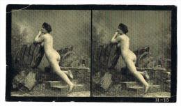 NUS FEMININS - NUDED - PHOTO STEREOSCOPIQUE  - Beauté Féminine D'Autrefois - Début Années 1900 - H.15 - Photos Stéréoscopiques