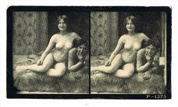 NUS FEMININS - NUDED - PHOTO STEREOSCOPIQUE  - Beautés Féminines D´Autrefois - Début Années 1900 -P 1275 - Photos Stéréoscopiques