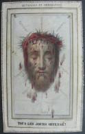 IMAGE PIEUSE Letaille Fin XIXème: LA SAINTE FACE - OUTRAGES ET REPARATION / THE HOLY FACE / SANTINO - Images Religieuses