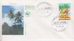 Enveloppe 1er Jour    MAYOTTE     Planning   Familial      DEMBENI    1998 - Mayotte (1892-2011)