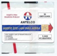 ANTELCO 10 Impulsos MINT FOLDER NEUVE 2000 Guaranies NSB