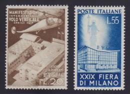 """ITALIA 1951 """" 29° FIERA DI MILANO """" LA SERIE DI 2 VALORI  N.657/658 - NUOVA CON GOMMA INTEGRA MNH** - 1946-60: Neufs"""