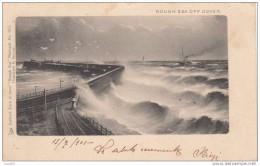 CARTOLINA POSTCARD 1901 ROUGH SEA OFF DOVER TRAVELLED- MARE IN TEMPESTA A DOVER VIAGGIATA - England