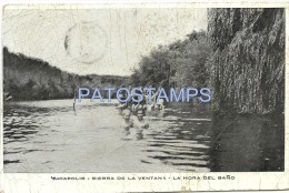 8101 ARGENTINA SIERRA DE LA VENTANA BS AS YMCAPOLIS COSTUMES HORA DEL BAÑO DAMAGED POSTAL POSTCARD - Argentina