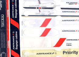 ETIQUETTES A BAGAGES  AIR FRANCE  Papier  (lot De 8) - Étiquettes à Bagages