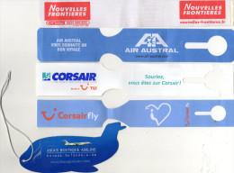 10 ETIQUETTES A BAGAGES *Nouvelles Frontieres*Corsair*Air Austral*Bangkok Airways *KLM *Star Alliance *Air Europa*United - Étiquettes à Bagages