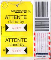 ETIQUETTES A BAGAGES  AIR FRANCE  Stand By/Rush  Papier (lot De 2) - Étiquettes à Bagages
