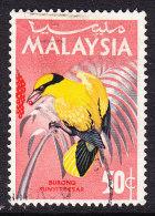 Malaysia 1965 Birds - 50c Black Eyed Oriole - Used - Malaysia (1964-...)