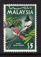 Malaysia 1965 Birds - $5 Paradise Flycatcher - Used - Malaysia (1964-...)