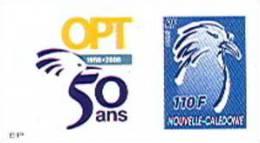 Nouvelle Caledonie Timbre Poste Personnalise 1er Public Avec Cagou Soit Tirage Officiel 50 Ans Opt Salon Coll 2008 TBE - Non Classificati