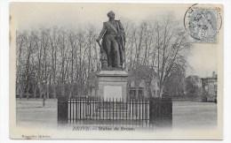 BRIVE EN 1905 - STATUE DE BRUNE - PETIT PLI ANGLE BAS A GAUCHE - Brive La Gaillarde