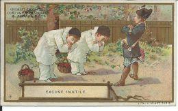 CHROMO , Compagnie Française Des Chocolats & Des Thés , L. SCHAAL é Cie , Excuse Inutile - Chocolat