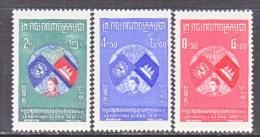 CAMBODIA  59-61  *   PRINCESS GLOBE FLAG - Cambodia