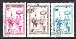 CAMBODIA   79-81  (o)    CEREMONIAL PLOW - Cambodia